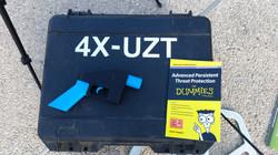 3D-printed gun and a drone box