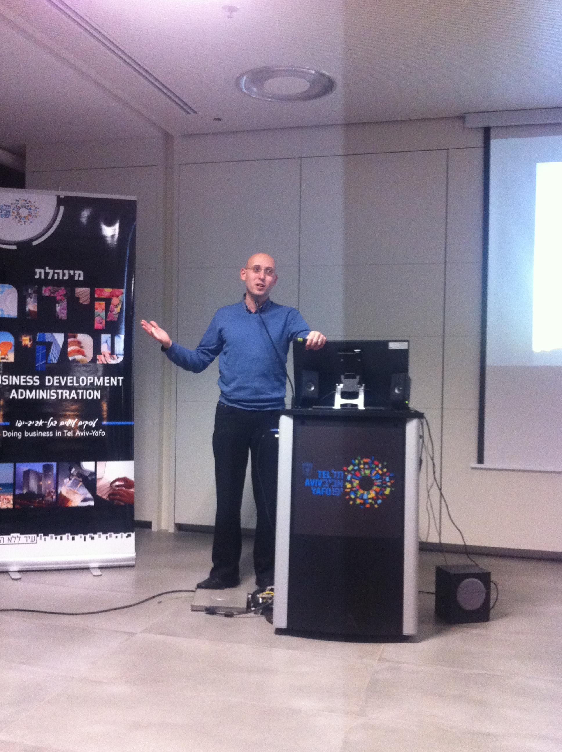 Lecture at Tel Aviv Municipality
