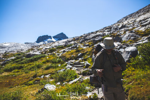 Geoff, Climbing to Donohue Pass