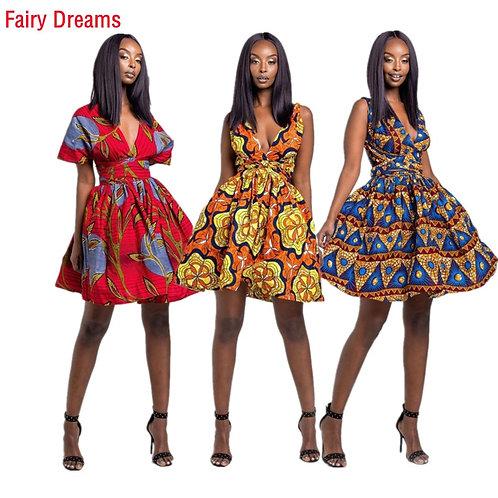 Women's African Dashiki Ankara Sundress
