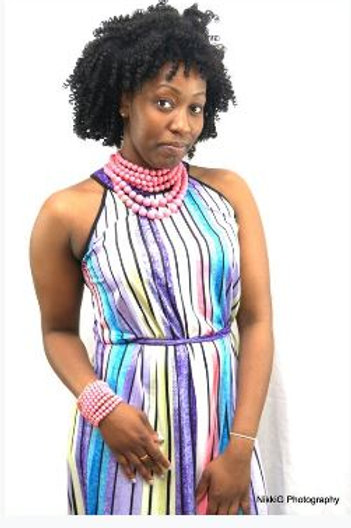 Multicolor Maxi Belted Dress