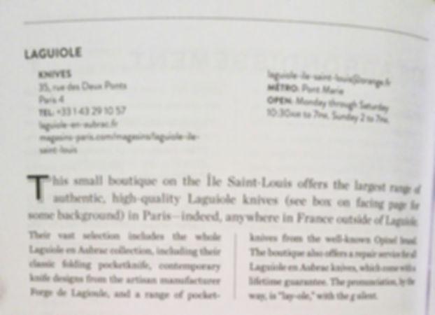 Laguiole Knife Shop Review Paris
