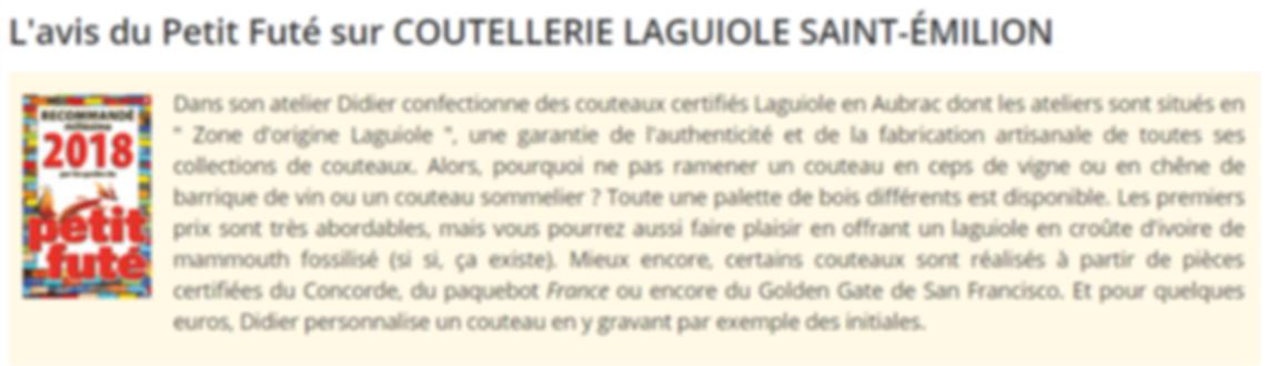 Le Petit Futé - Laguiole Renaud Cutlery