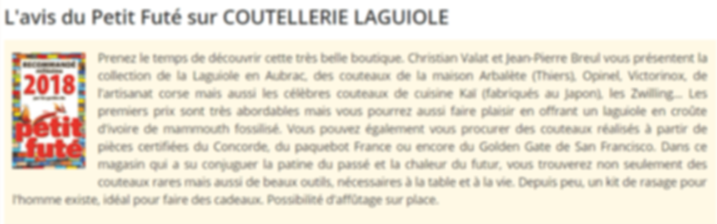 Laguiole Cutlery Shop Review
