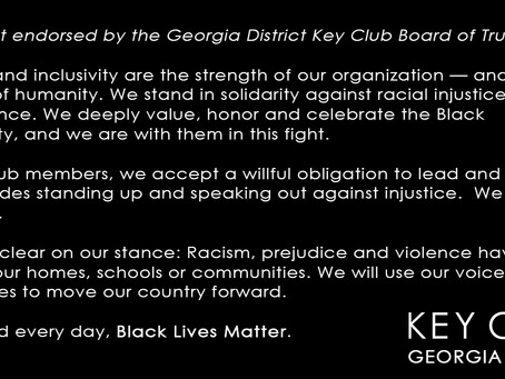 Black Lives Matter - Statement from Key Club Board