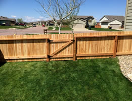4ft Solid Cedar with custom gate