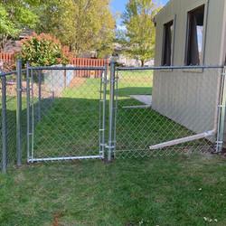 4ft Galvanized Chainlink Walk Gate