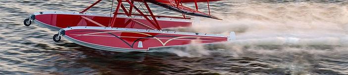 Aerocet Amphibious Floats on Brand New WACO YMF-5