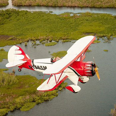 Brand New WACO YMF-5 Flying Over Lake - Low & Slow