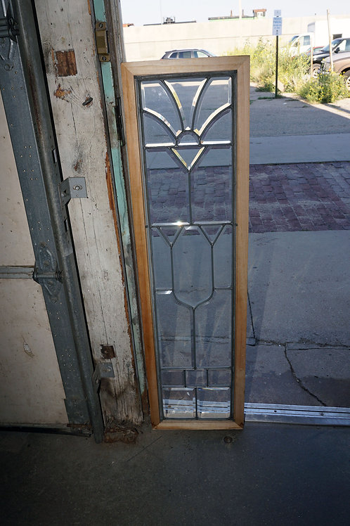 Leaded And Beveled Glass Window Ca 1910s