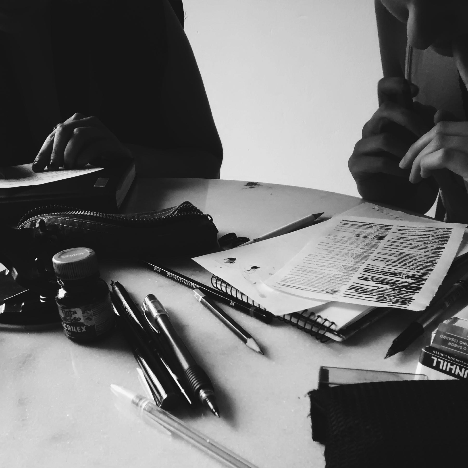 encontro de escrita