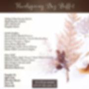 Thanksgiving Buffet Menu🍽_November 28,