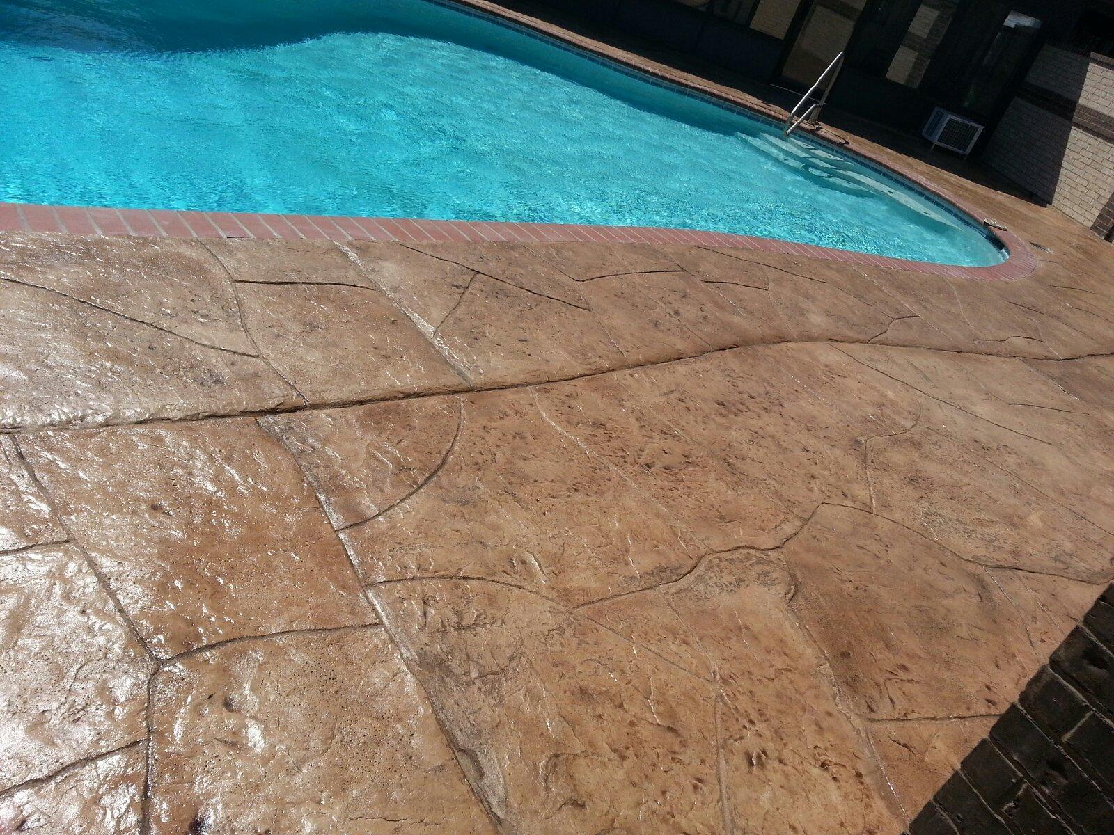 Residential pool deck