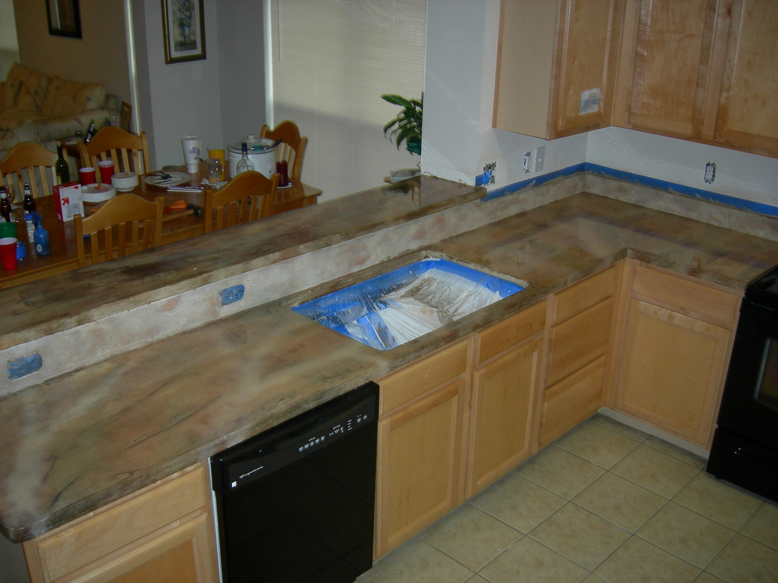 Residential kitchen countertop