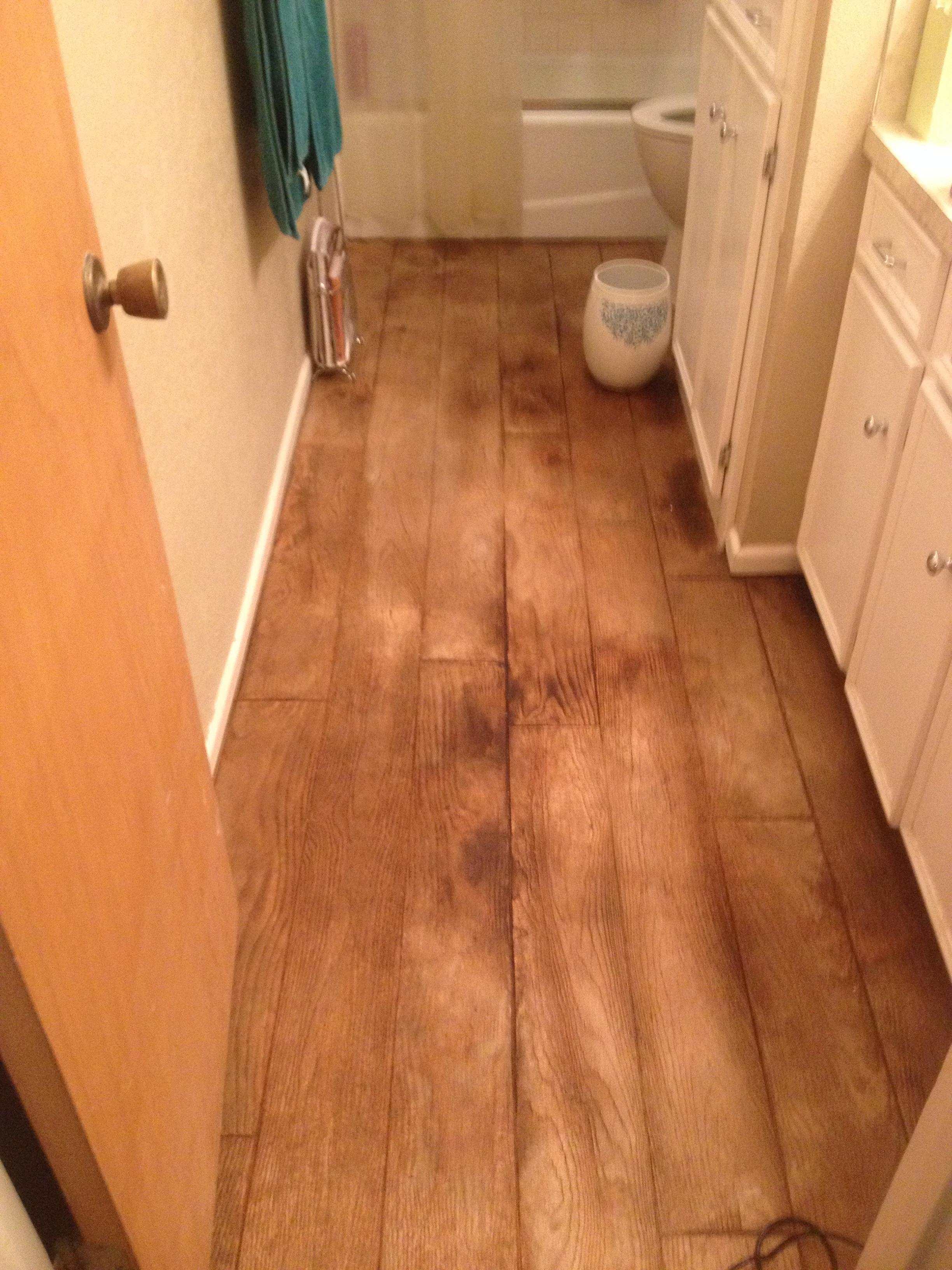 Residential bathroom floor