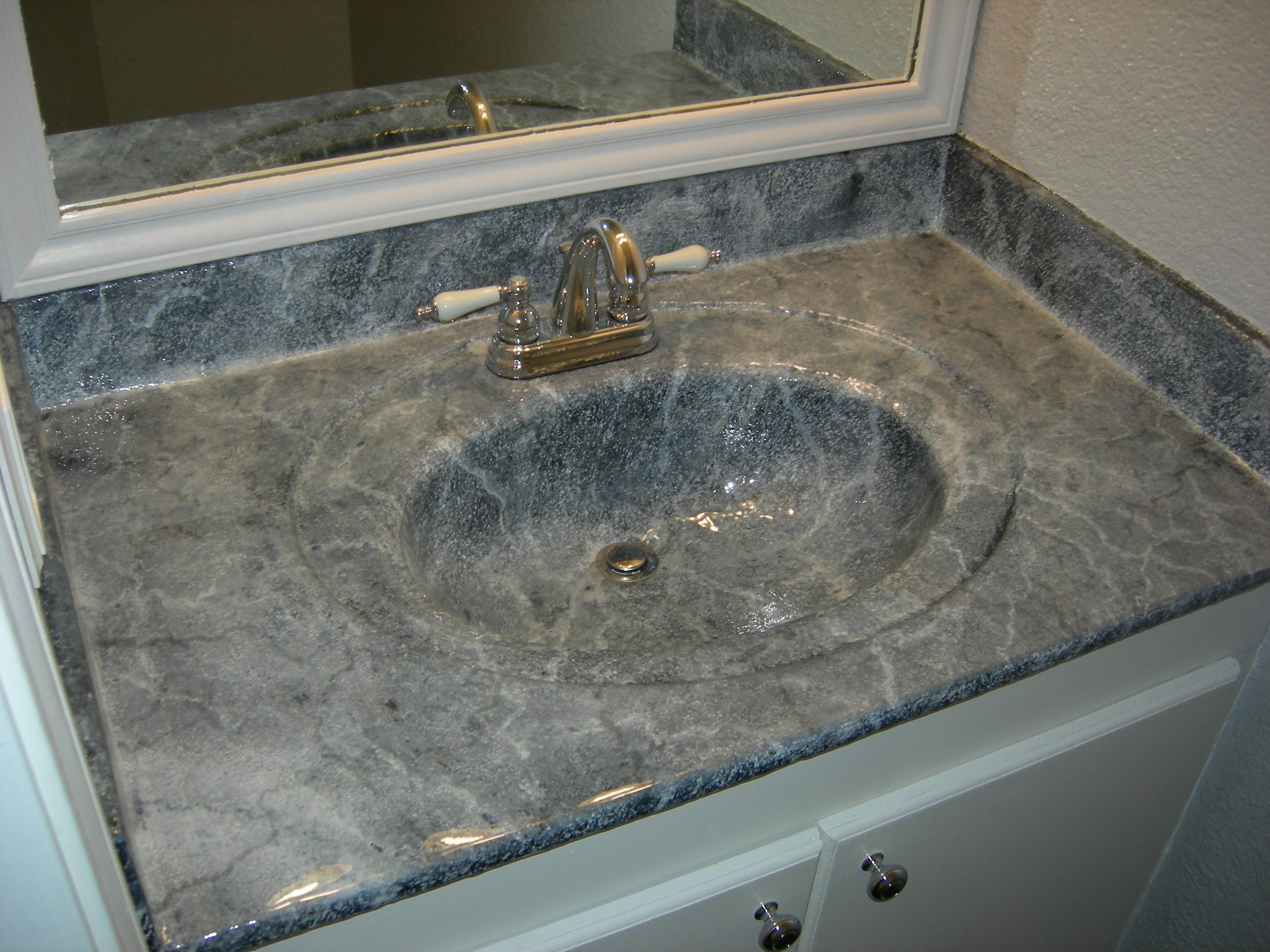 Residential bathroom sink
