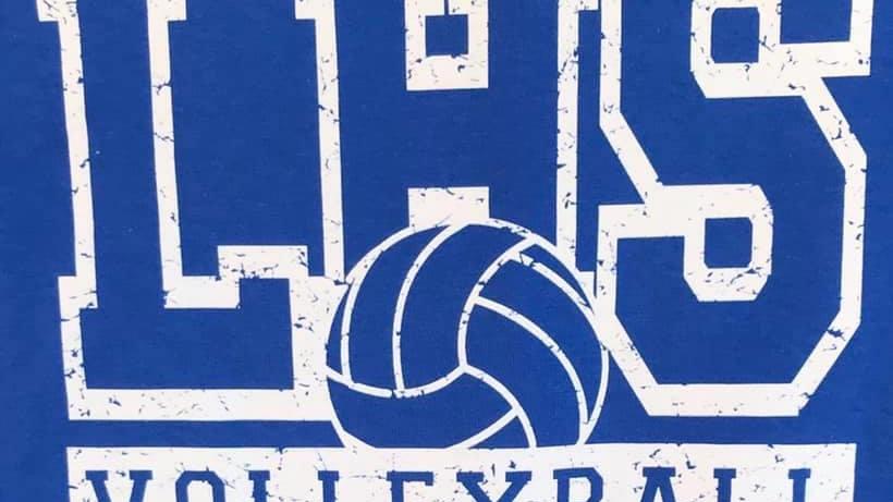 Blue LHS Volleyball Crew Neck Sweatshirt
