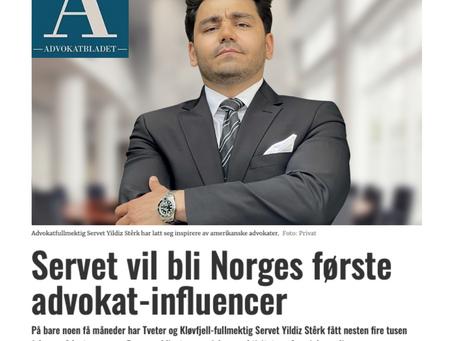 Se reportasje i Advokatbladet om min visjon om å etablere en unik digital tilstedeværelse.