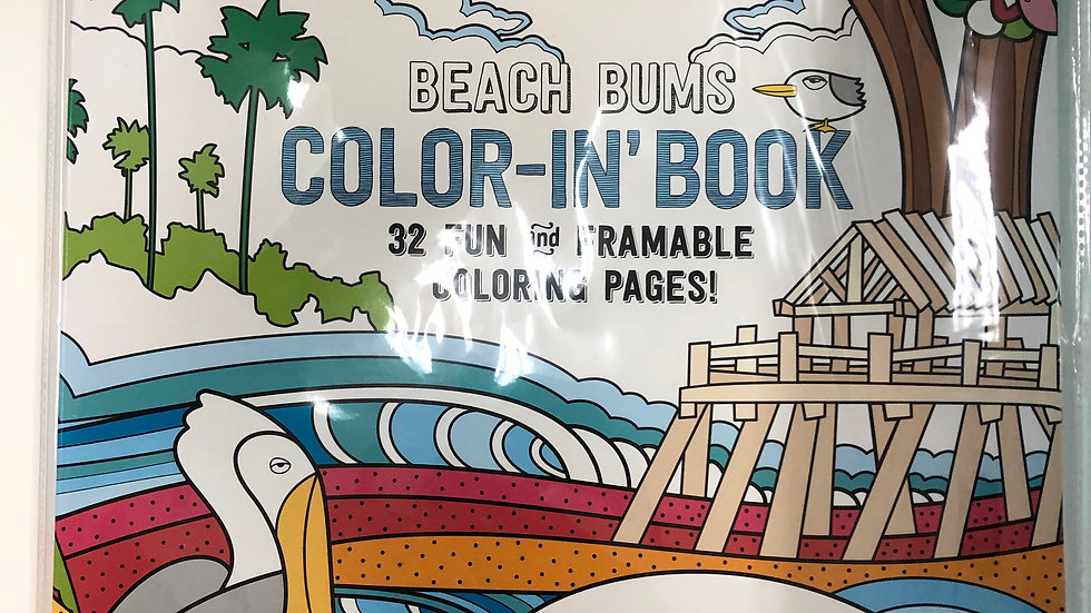 Color-in' Book: Beach Bums