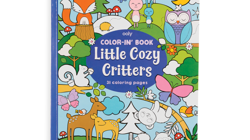 Color-in' Book: Cozy Critters