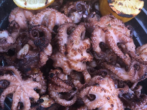Char-Grilled Tender Octopus