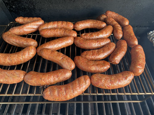 Smoked Chicken and Roasted Garlic Sausages