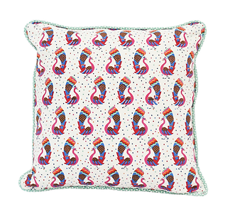 Cushion in cotton voile