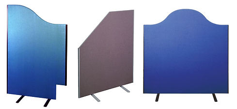 3 bespoke screens made to measure with corners and edges custom made to fit into special areas