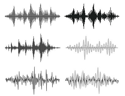 A clipart picture showing sound wave typical of office acoustics