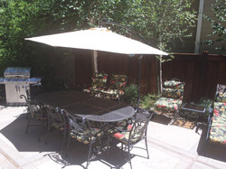 Dining on the patio