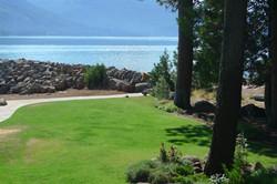 Beach and lawn