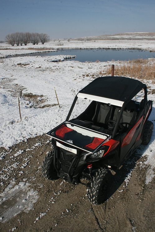 Can Am Maverick Trail Folding Vented Windshield