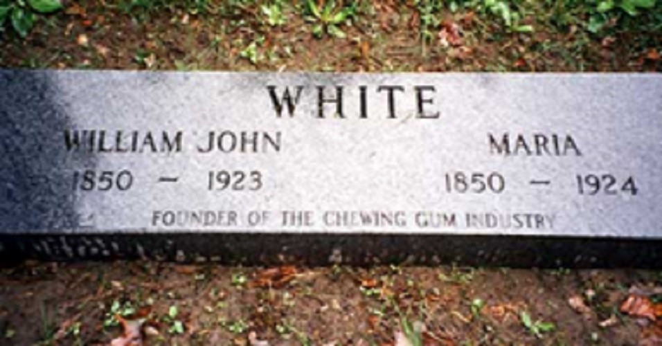 Tombstone of WJ White