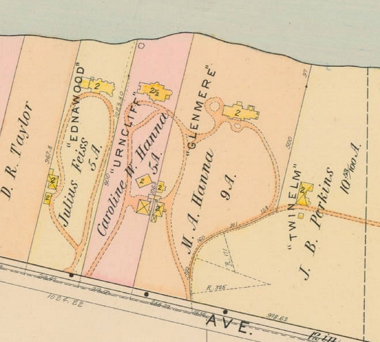 Map of Urncliff and Surrounding Estates