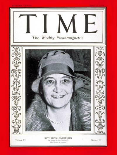Ruth Hanna on Time Magazine Cover