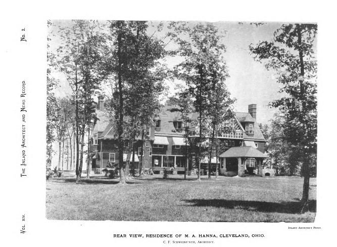 Rear View, Residence of M.A. Hanna