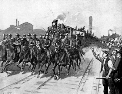 Scene from Great Railroad Strike 1877