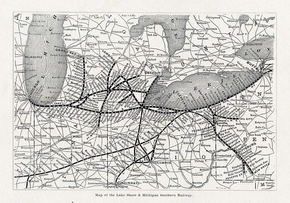 Lake Shore & Michigan Southern Rail Road Map