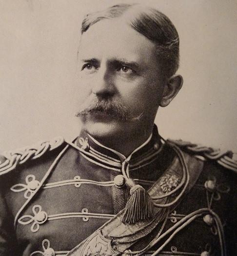 Perkins as Captain in Grays