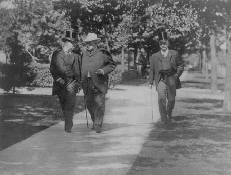 Hanna and Roosevelt Walking