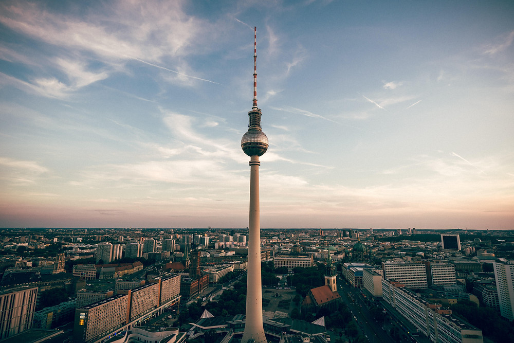 Berlin from aerial view