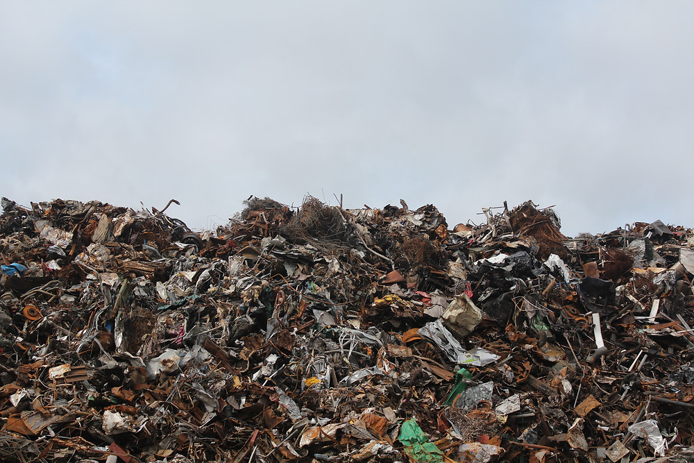 Piles of dry waste