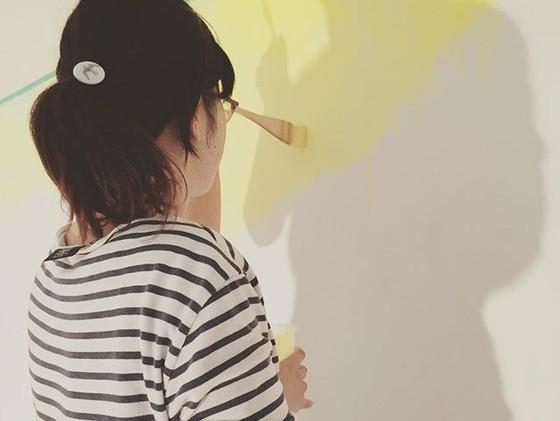 壁塗って参ります。_#羽犬塚プロジェクト #painting #art #wal