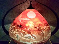 飛翔の夕日 ランプ