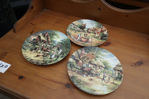 """517. 3 x Decorative Plates. Wedgewood """"Country Days"""" Limited Edition"""