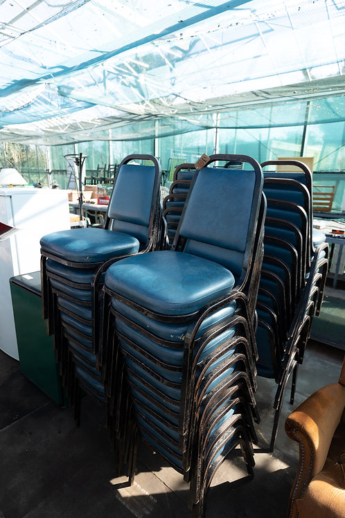10. Stacking Chairs forty available. £1 each