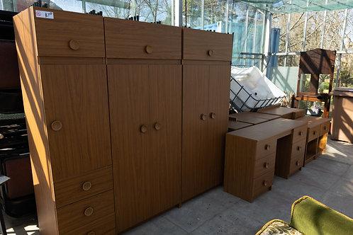 18. Large quantity of Bedroom Furniture including Wardrobes, Bedside Cabinets, C