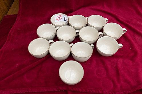407. 11 x Tea Cups & Bowl (Kalahari Sands)