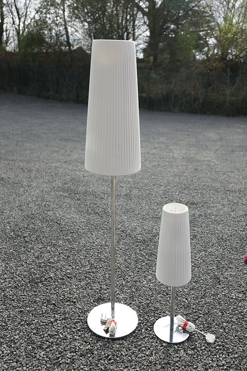 158. Pair of Matching Lamps, Standard and Table.