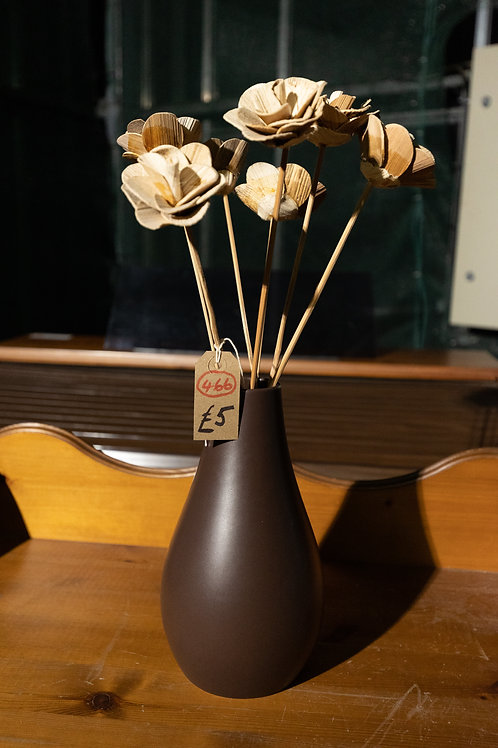 466. Vase and Wooden Flowers